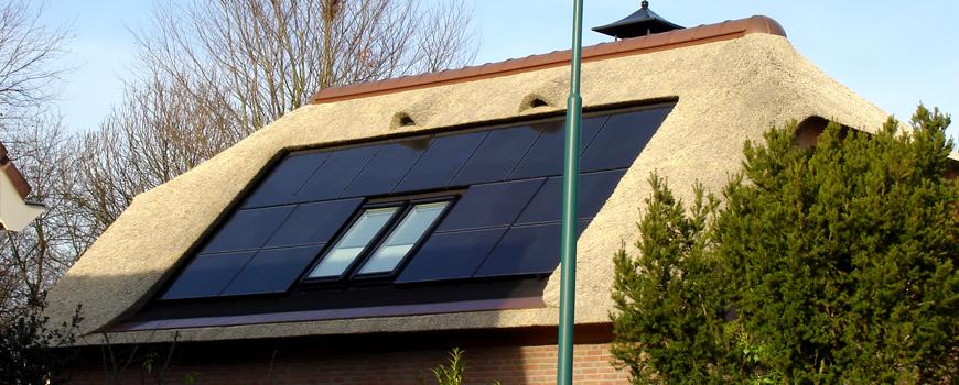 Rietdekker & Timmerman A.J. Vink realiseert ook rieten daken met kunststof Novariet